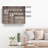 'Caution-Dog' Wrapped Canvas Pet Wall Art