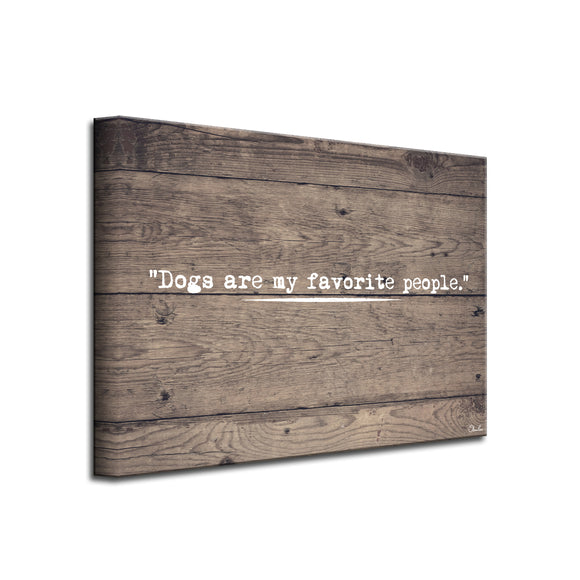 'Dog People' Wrapped Canvas Pet Wall Art