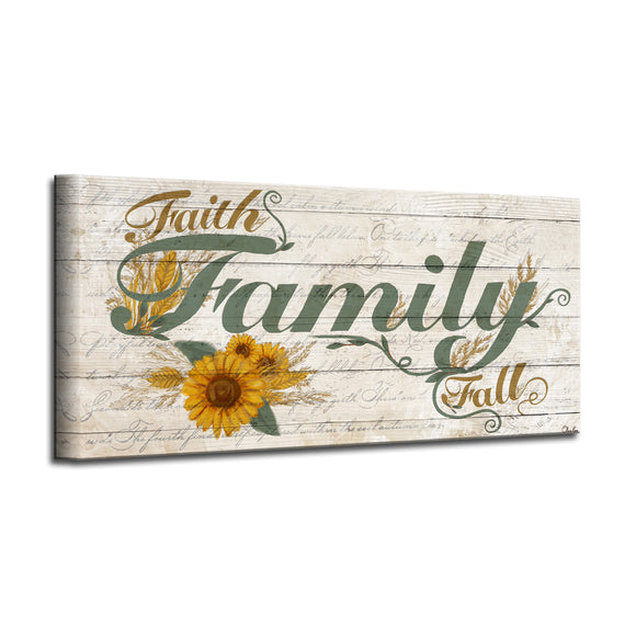 'Family' Wrapped Canvas Harvest Wall Art