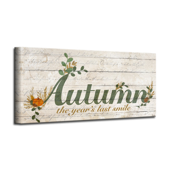 'Autumn' Wrapped Canvas Harvest Wall Art