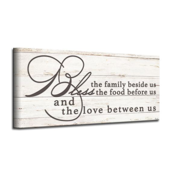 'Blessing' Wrapped Canvas Kitchen Wall Art
