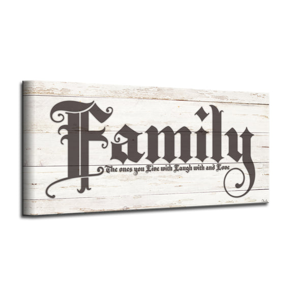 'Love of Family' Wrapped Canvas Harvest Wall Art