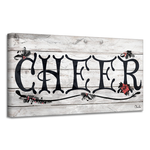 'Cheer' Holiday Canvas Wall Art