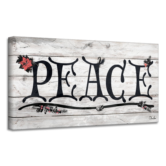 'Peace' Holiday Canvas Wall Art