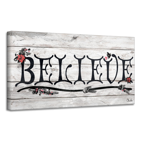 'Believe' III Holiday Canvas Wall Art