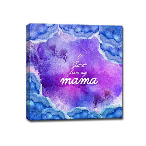 Ready2HangArt™ 'I Got it from my Mama' Wrapped Canvas Art