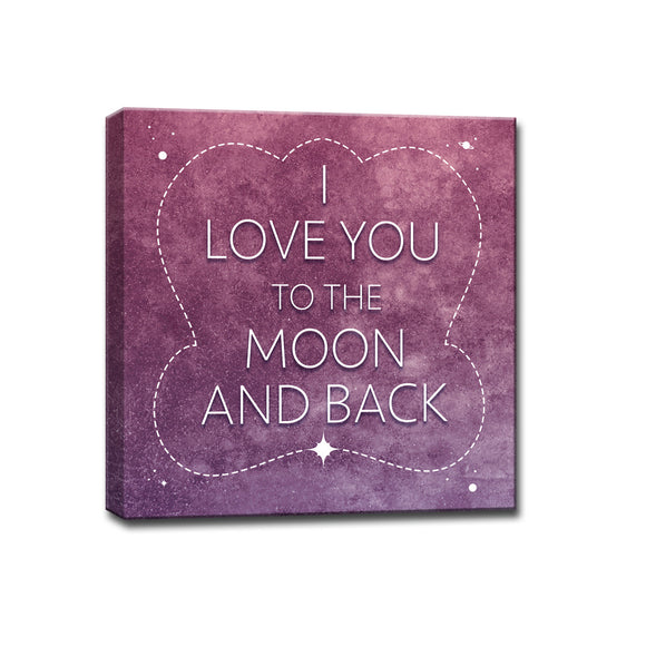 Ready2HangArt™ 'I Love you to the Moon & Back' Wrapped Canvas Art