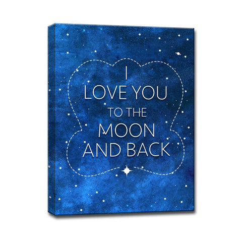 Ready2HangArt™ 'I Love you to the Moon & Back II' Wrapped Canvas Art