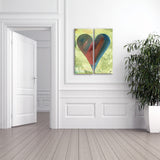 "Ready2HangArt Zane Heartwork ""Heather"" Canvas Art"
