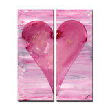 "Ready2HangArt Zane Heartwork ""Jessica""  Canvas Art Set"
