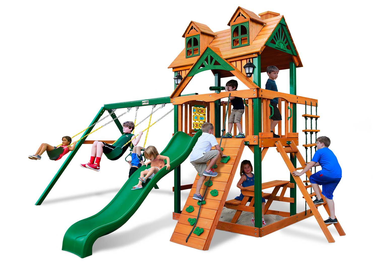 I Just Bought A Wooden Swing Set Over the Internet - Now What?  sc 1 st  NJ Swingsets & Vinyl vs Sunbrella vs Wood Roof on a Swing Set - NJ Swingsets