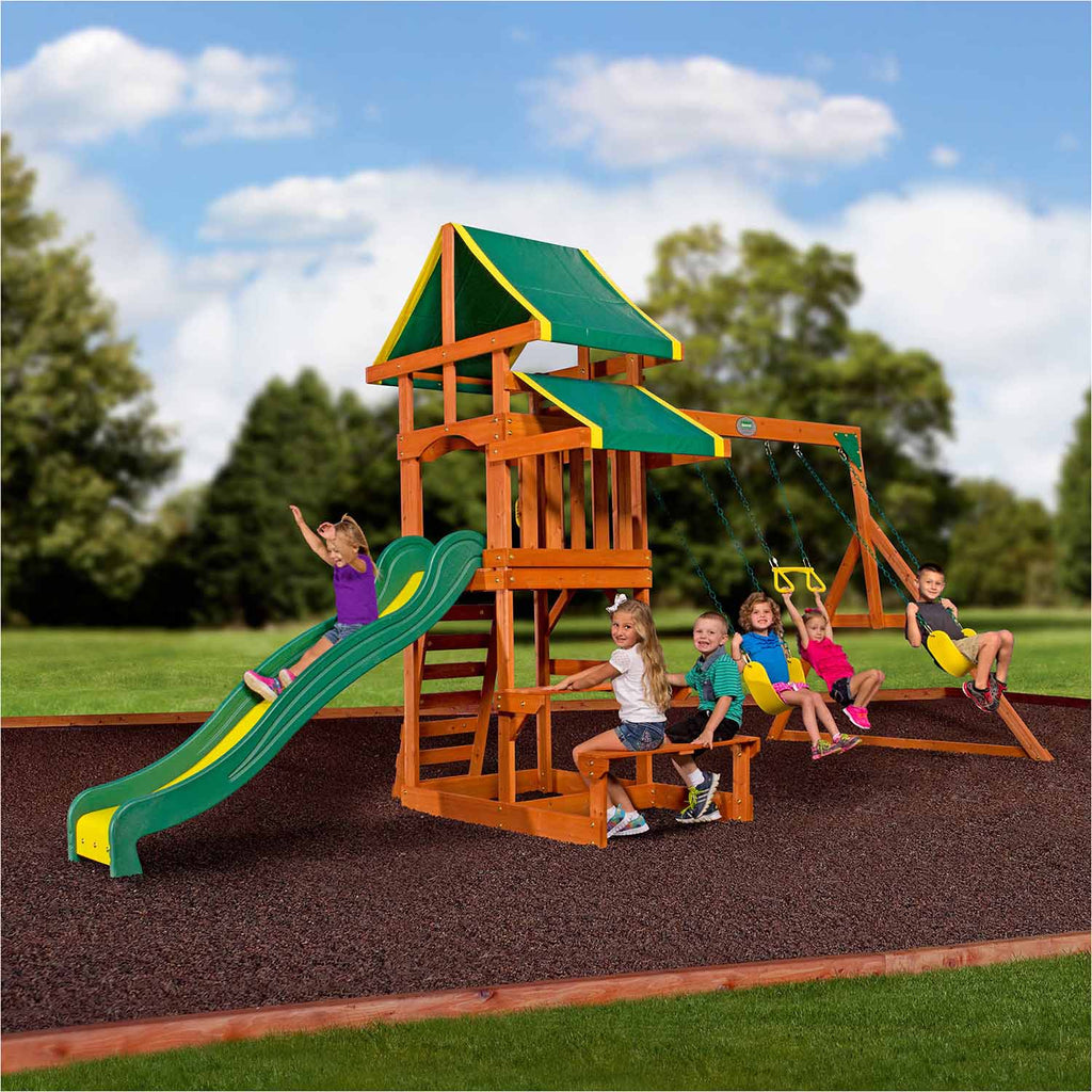 Backyard Playset Reviews why you shouldn't buy cheap swing sets online - nj swingsets