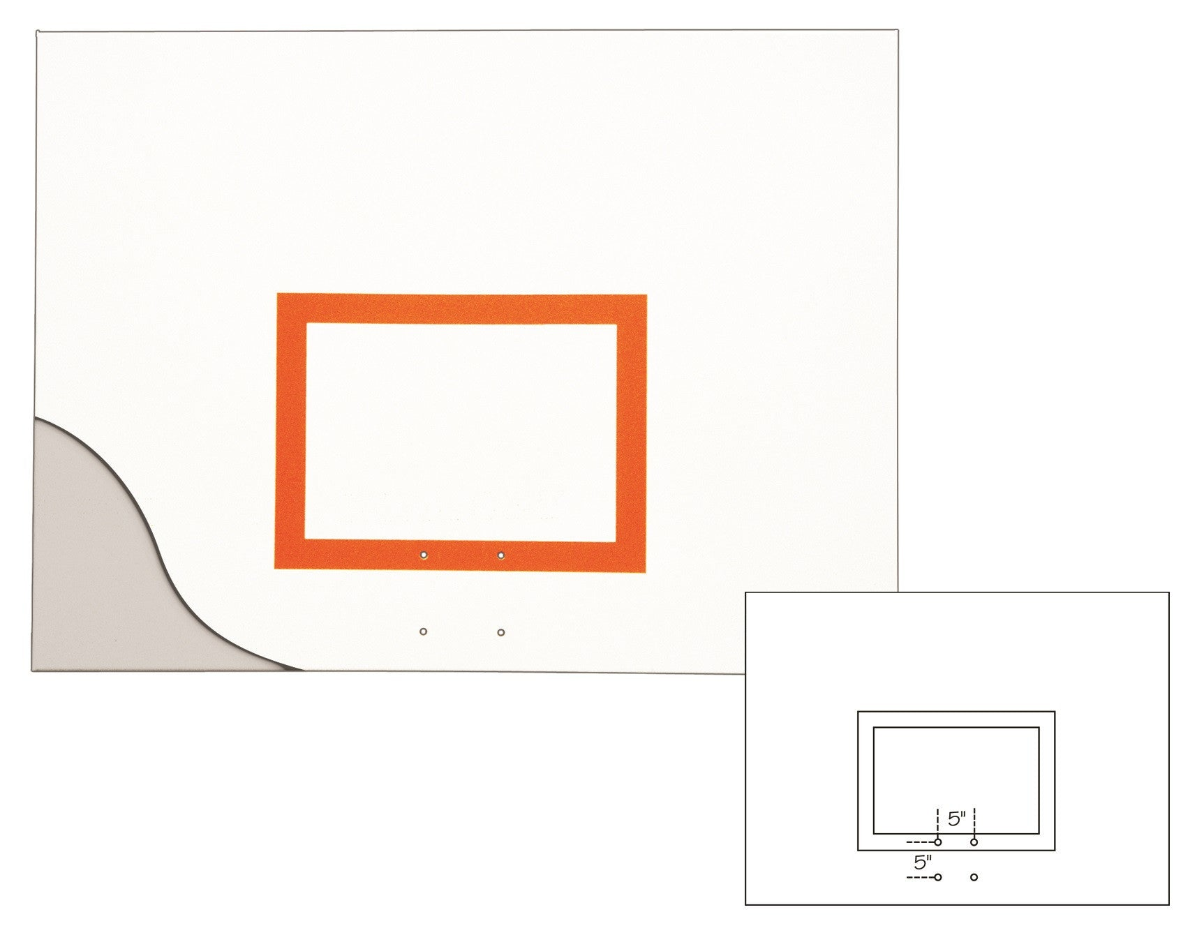 First Team Aluminum Backboard 42 x 60 inch-FT261