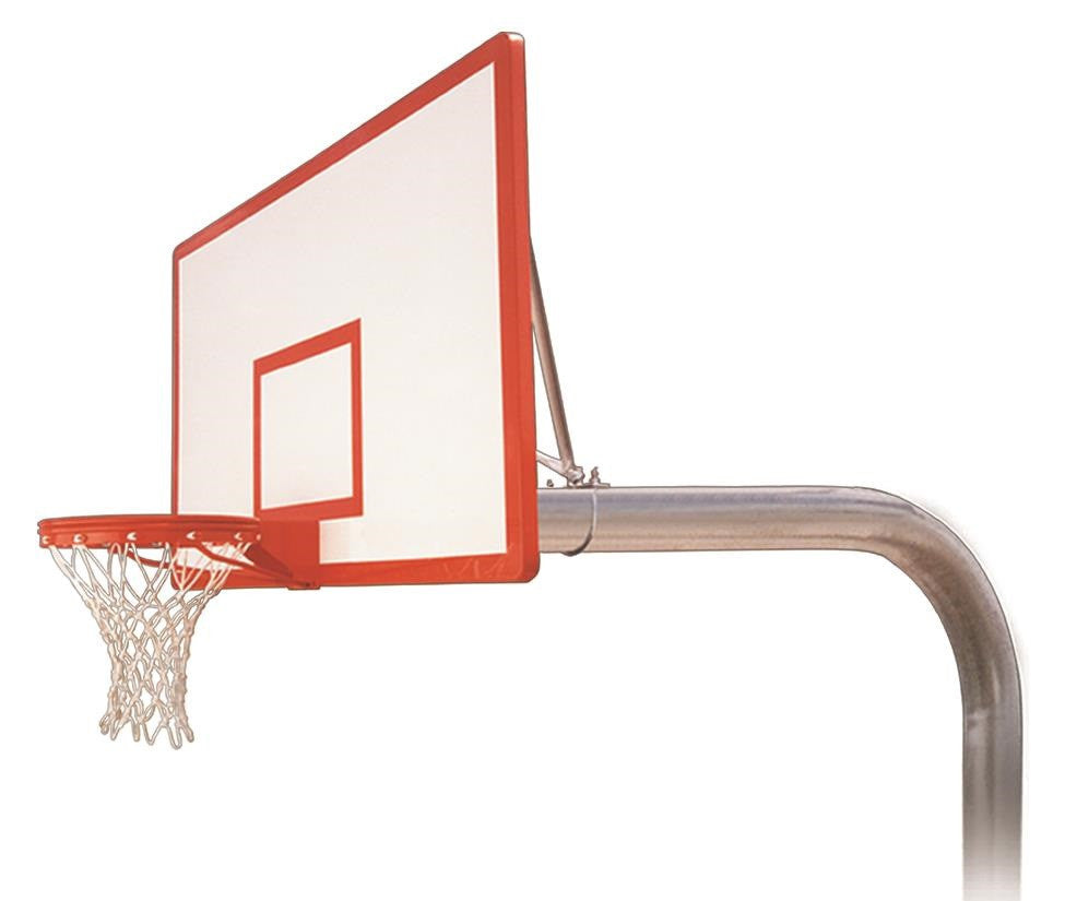First Team Brute Dynasty In Ground Outdoor Fixed Height Basketball Hoop 72 inch Fiberglass