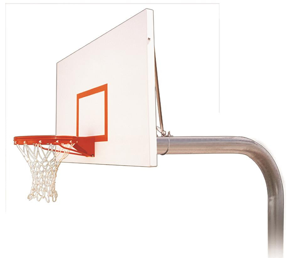 First Team Brute Excel In Ground Outdoor Fixed Height Basketball Hoop 72 inch Steel