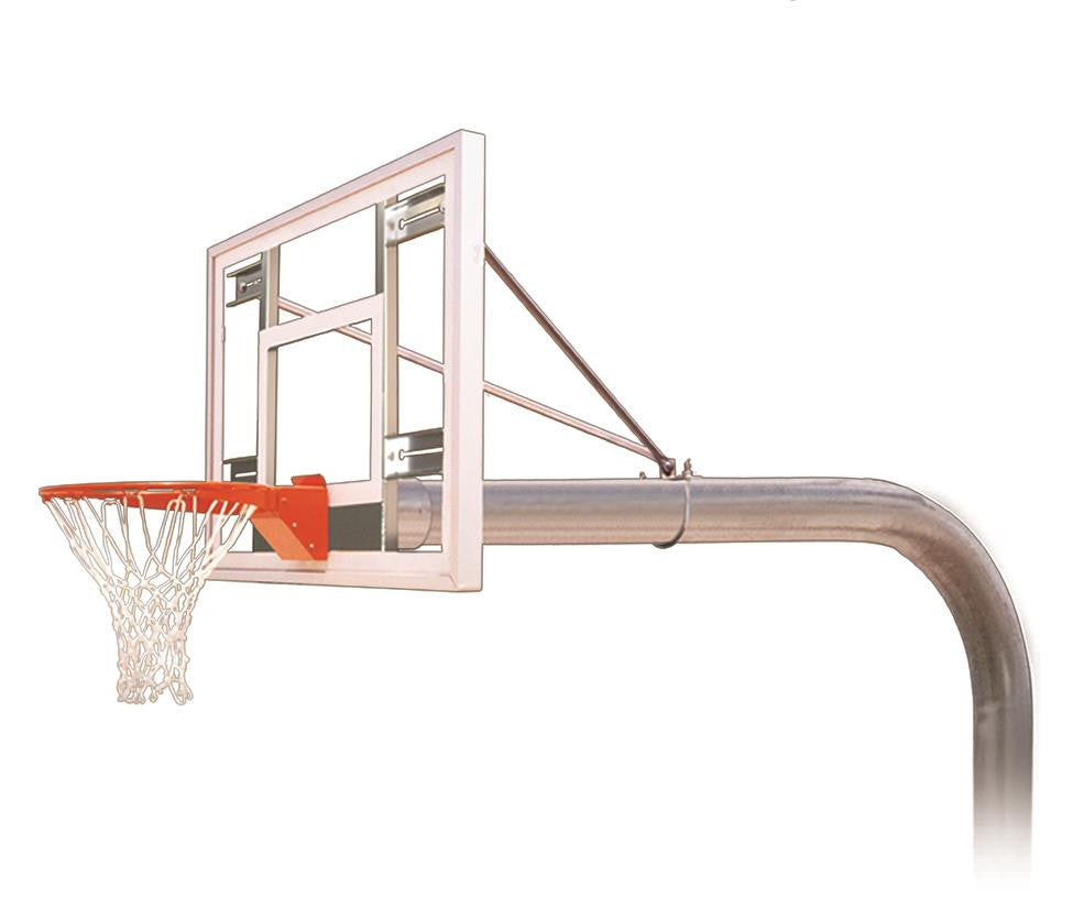 First Team Brute III In Ground Outdoor Fixed Height Basketball Hoop 54 inch Acrylic