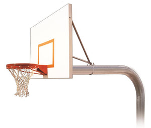 first team brute impervia in ground outdoor fixed height basketball hoop 60 inch aluminum - In Ground Basketball Hoop