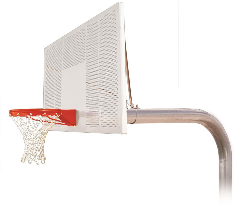 First Team Brute Intensity In Ground Outdoor Fixed Height Basketball Hoop 72 inch Aluminum