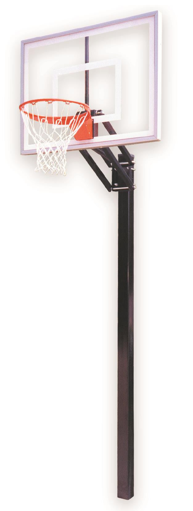 First Team Champ II In Ground Outdoor Adjustable Basketball Hoop 48 inch Acrylic