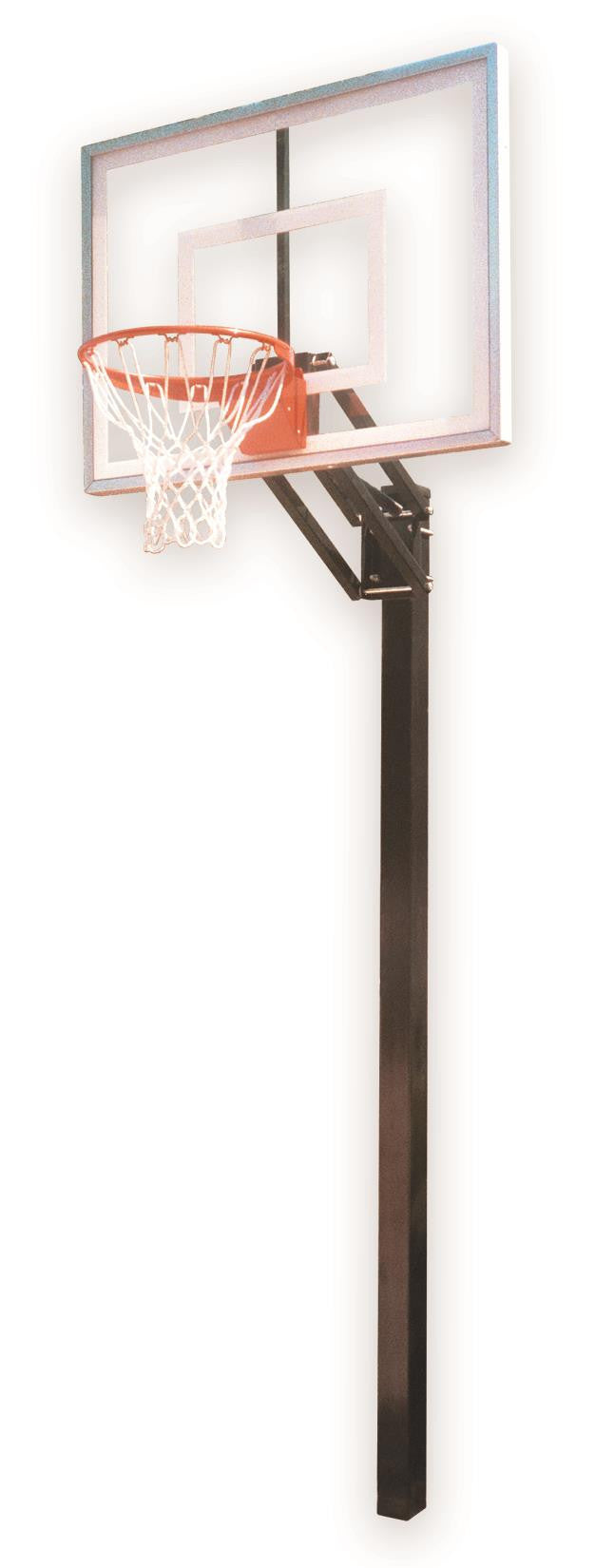 First Team Champ III In Ground Outdoor Adjustable Basketball Hoop 54 inch Acrylic