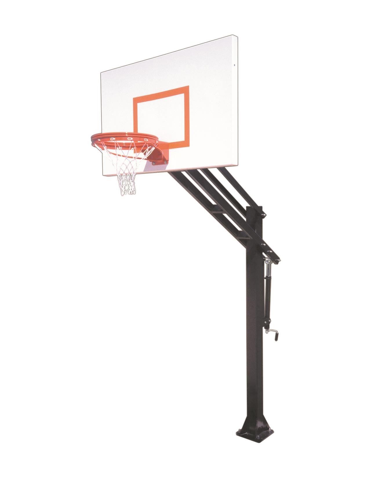First Team Force Endura In Ground Outdoor Adjustable Basketball Hoop 60 inch Aluminum