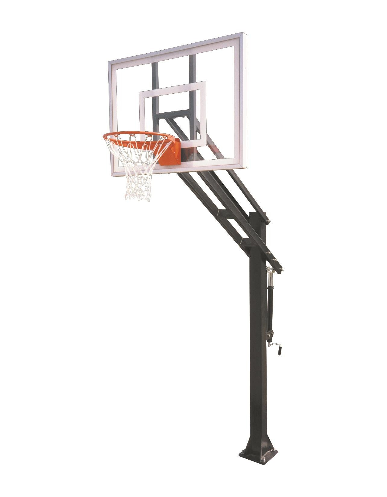 First Team Force III In Ground Outdoor Adjustable Basketball Hoop 54 inch Acrylic