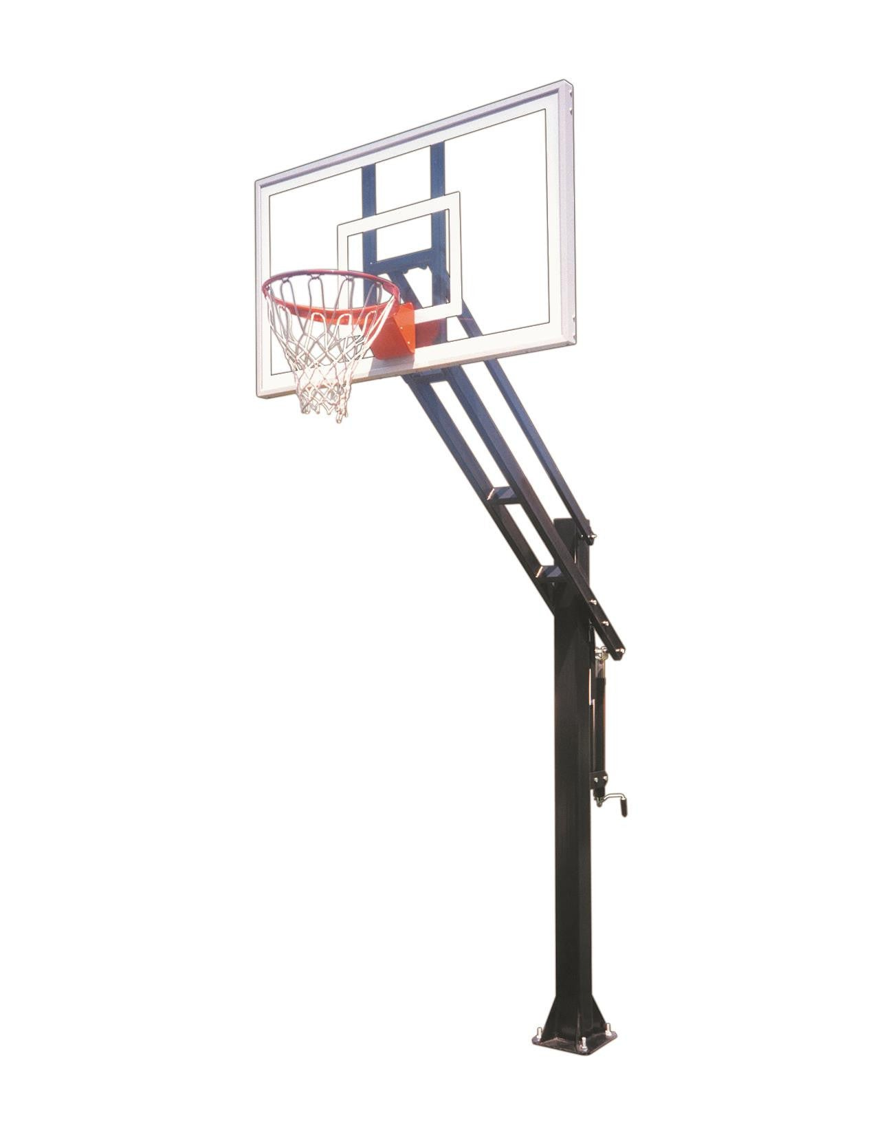 First Team Force Pro In Ground Outdoor Adjustable Basketball Hoop 60 inch Tempered-Glass