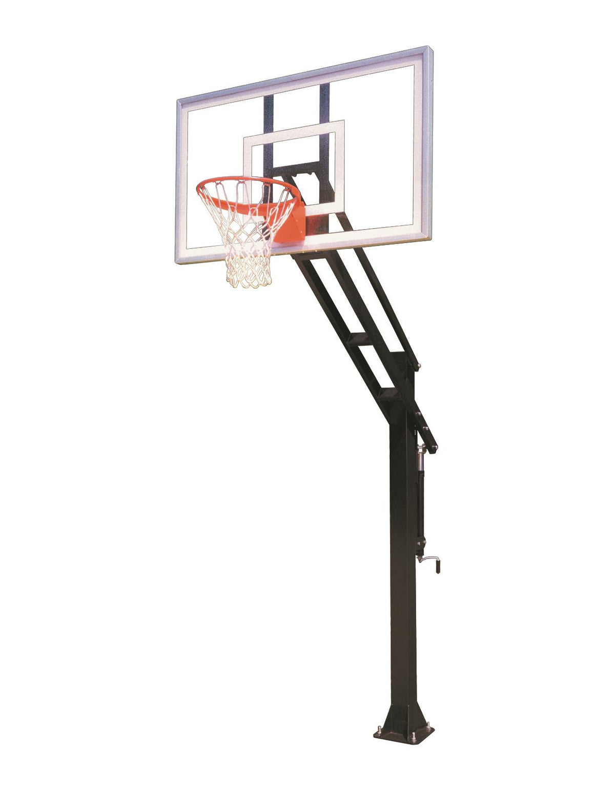 First Team Force Select In Ground Outdoor Adjustable Basketball Hoop 60 inch Acrylic