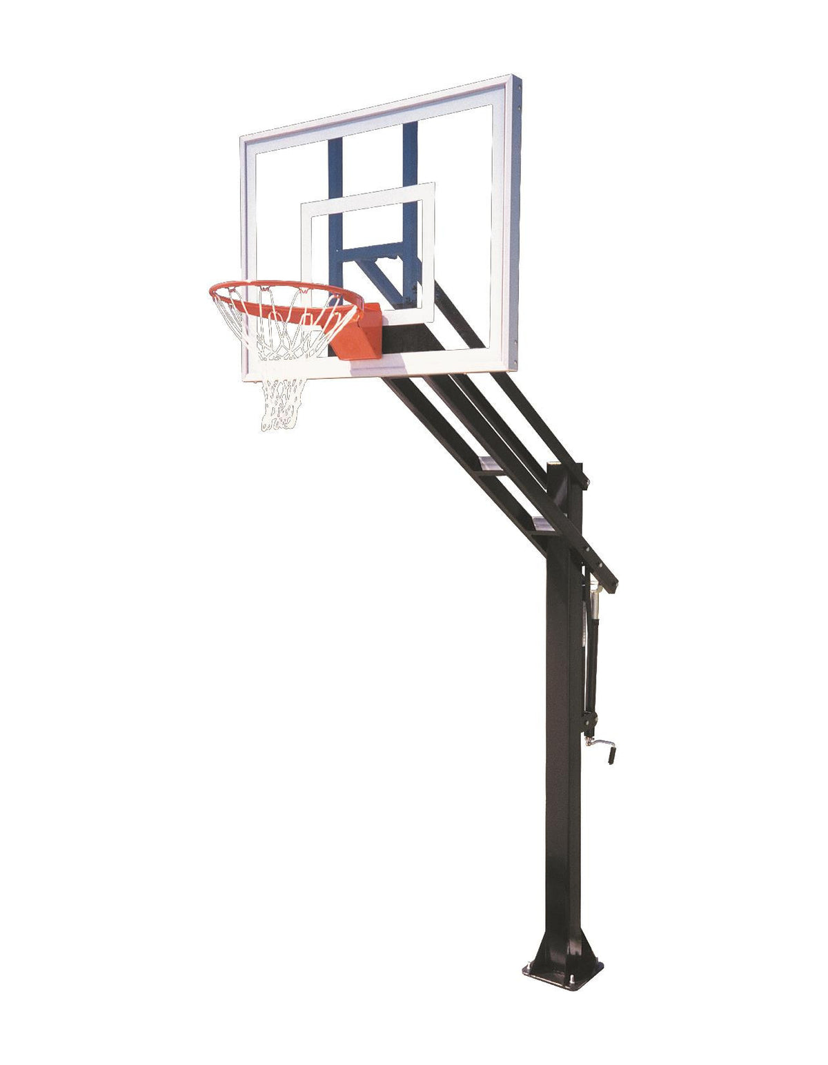 First Team Force Ultra In Ground Outdoor Adjustable Basketball Hoop 54 inch Tempered Glass