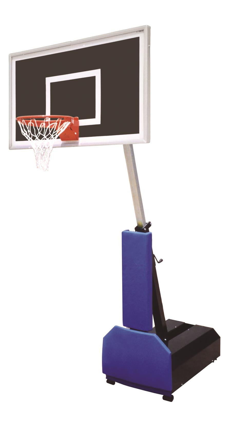 First Team Fury Eclipse Adjustable Portable Basketball Hoop 60 inch Smoked Glass
