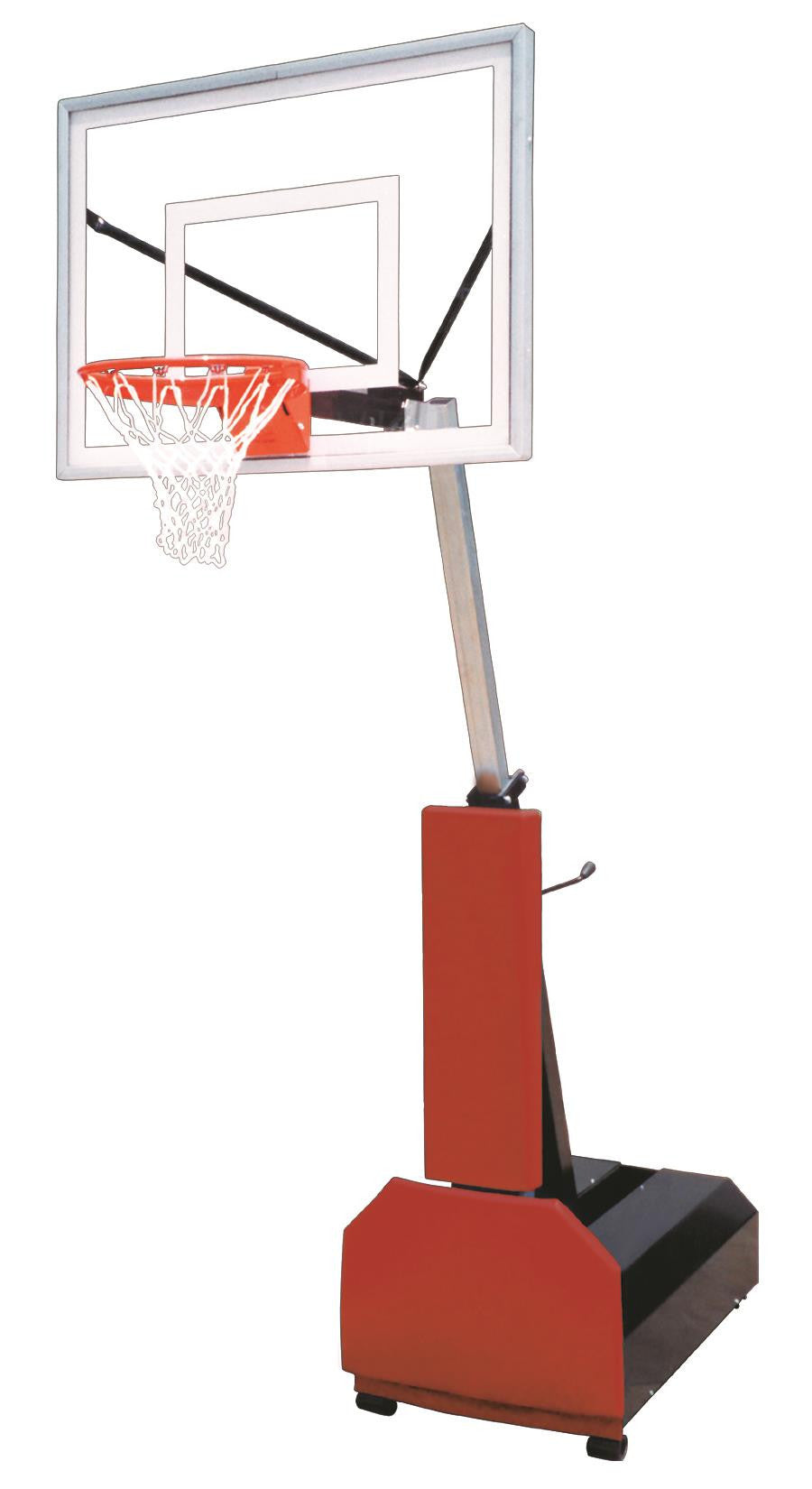 First Team Fury III Adjustable Portable Basketball Hoop 54 inch Acrylic