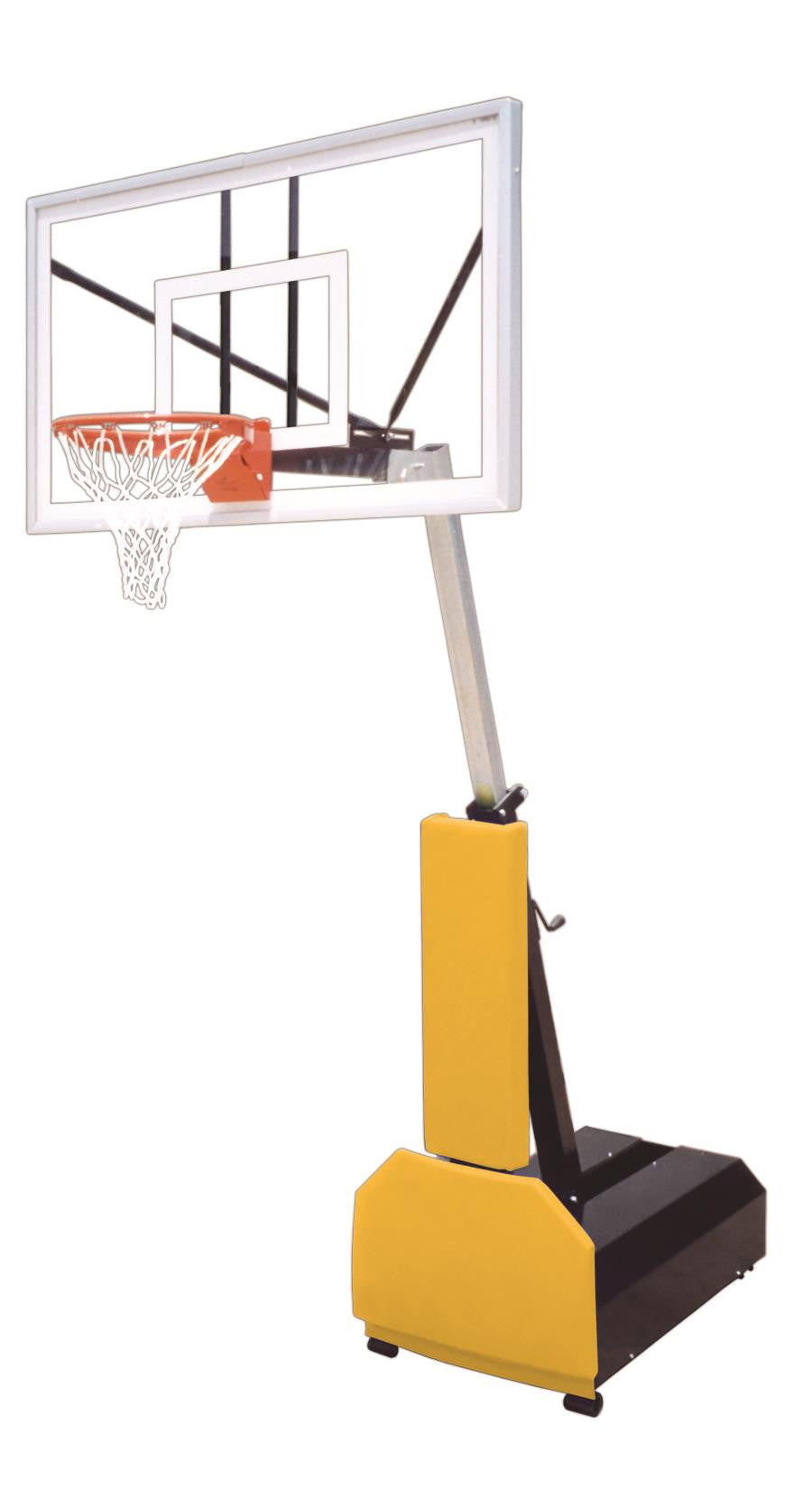 First Team Fury Nitro Adjustable Portable Basketball Hoop 60 inch Tempered Glass