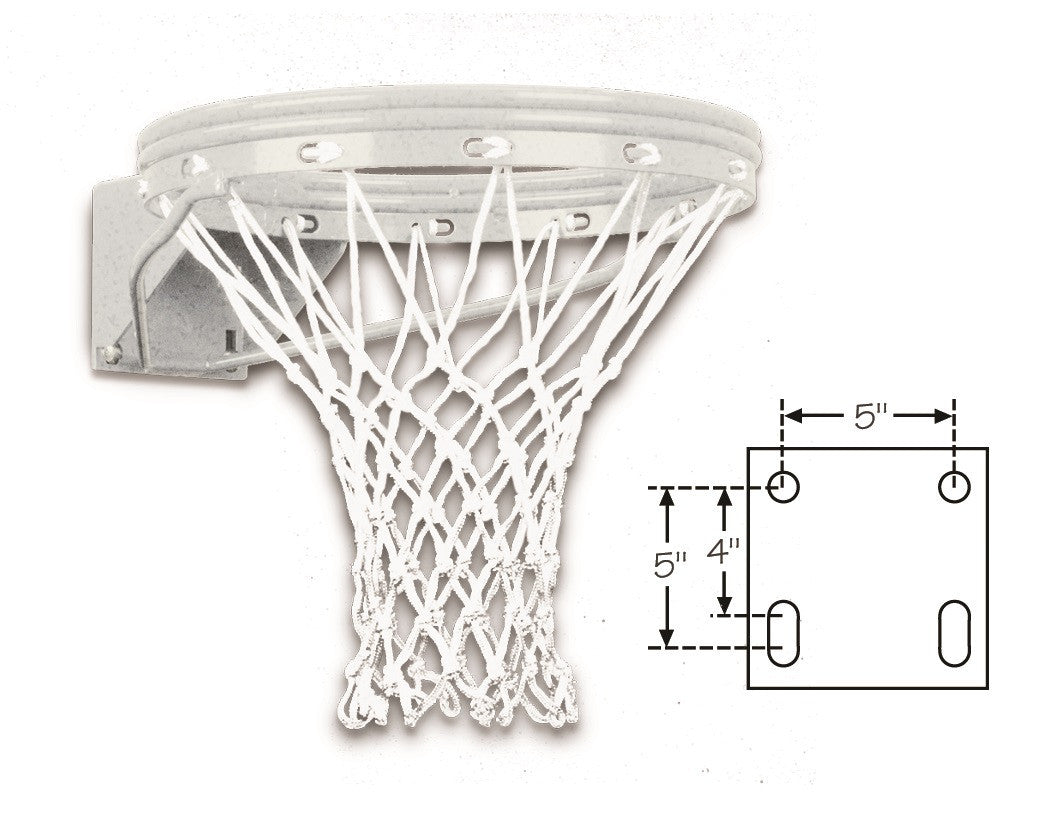 First Team Galvanized Unbreakable Lifetime Warranty Fixed Basketball Goal FT 172D GV
