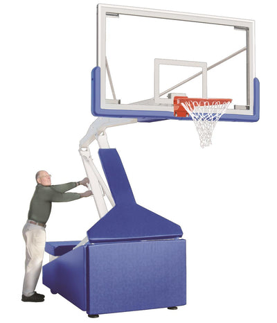 First-Team-Hurricane-Triumph-FL-Indoor-Portable-Basketball-System-Lowered