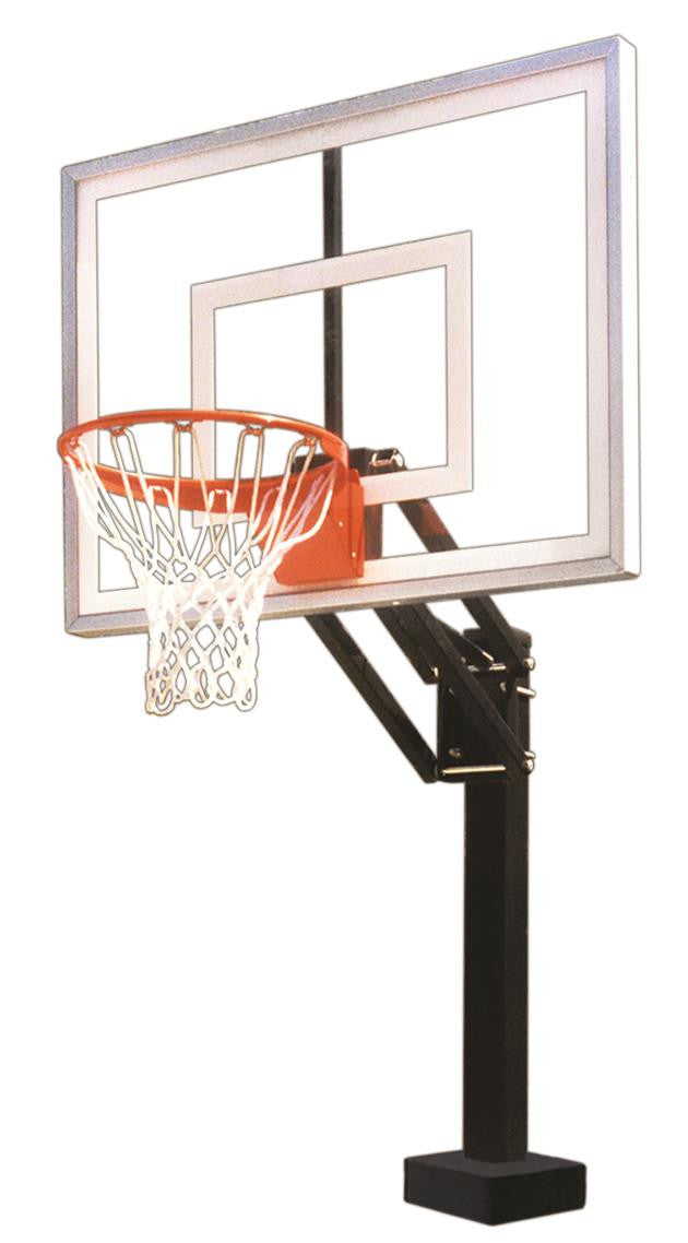 First Team HydroChamp II Adjustable Pool Side Basketball Hoop 48 inch Acrylic