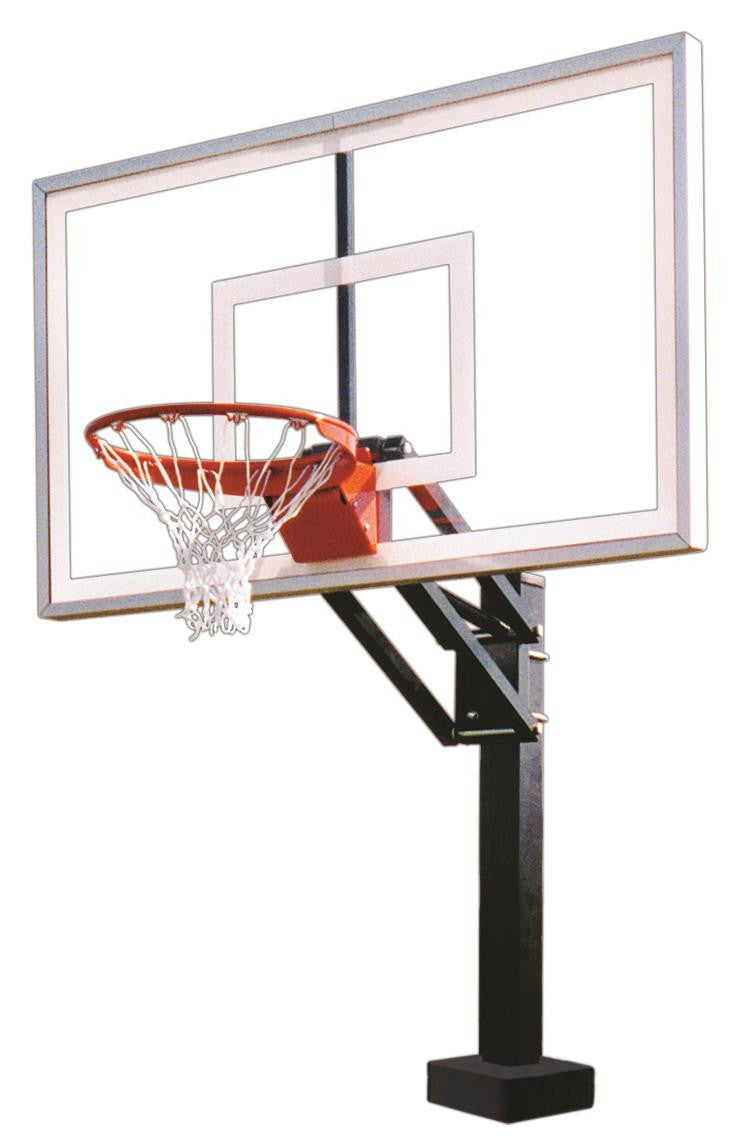 First Team HydroChamp Select Adjustable Pool Side Basketball Hoop 60 inch Acrylic