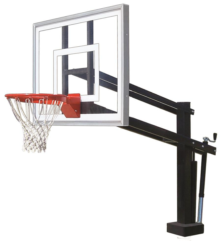 First Team HydroShot II Adjustable Pool Side Basketball Hoop 48 inch Acrylic