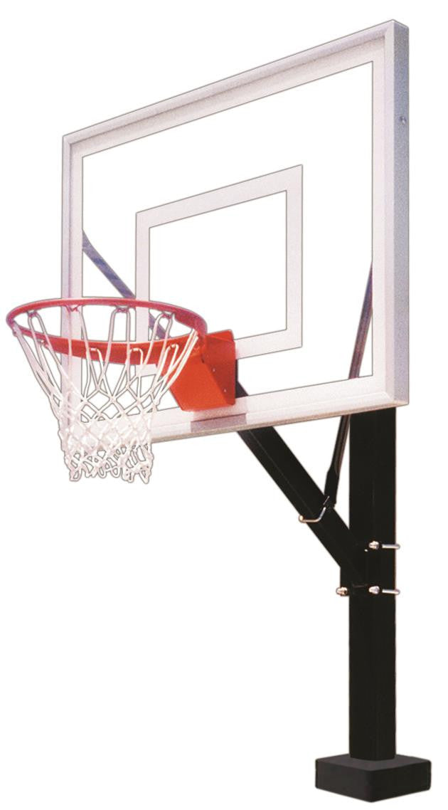 First Team HydroSport II Fixed Height Pool Side Basketball Hoop 48 inch Acrylic