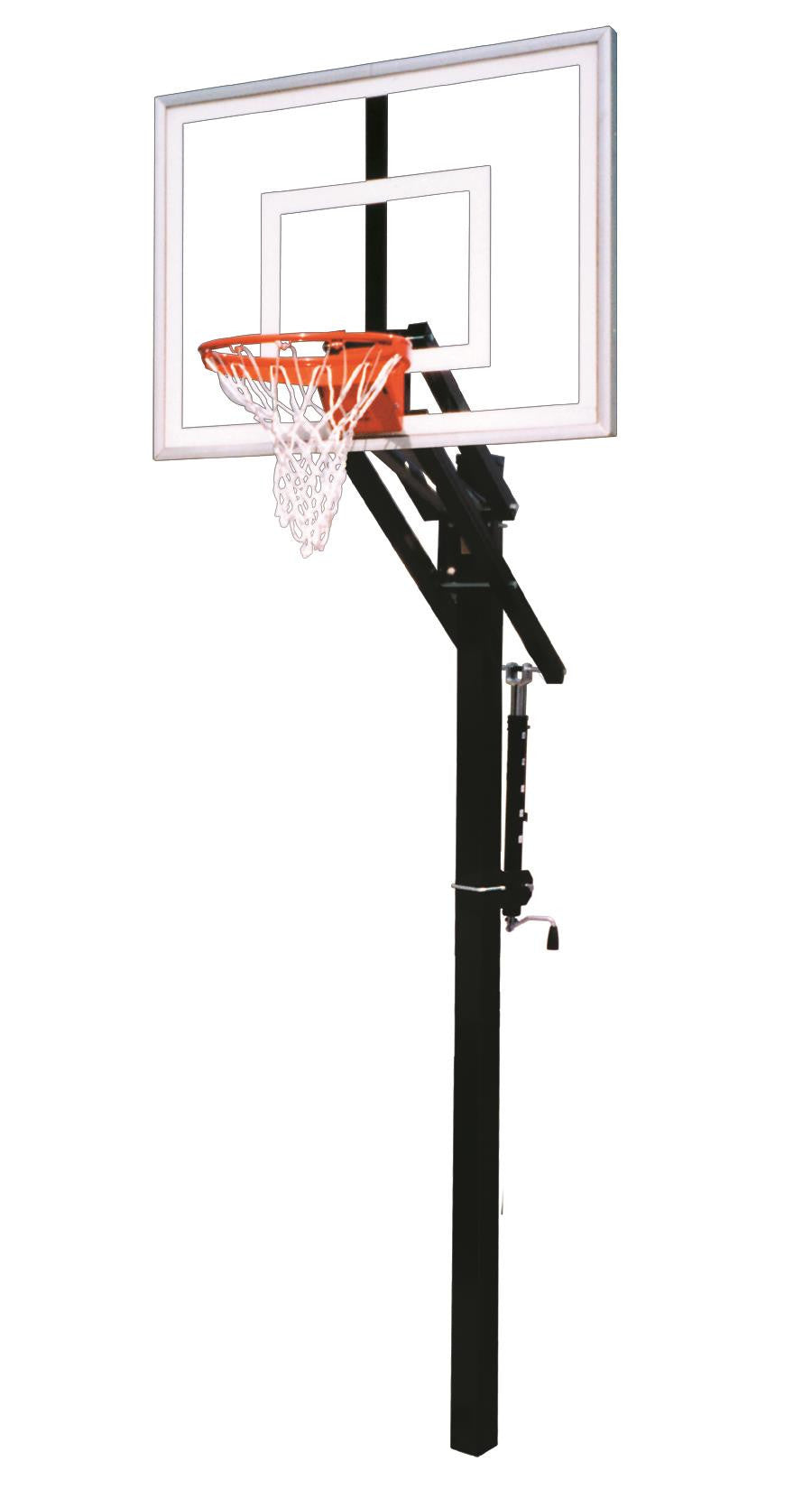 First Team Jam III In Ground Outdoor Adjustable Basketball Hoop 54 inch Acrylic