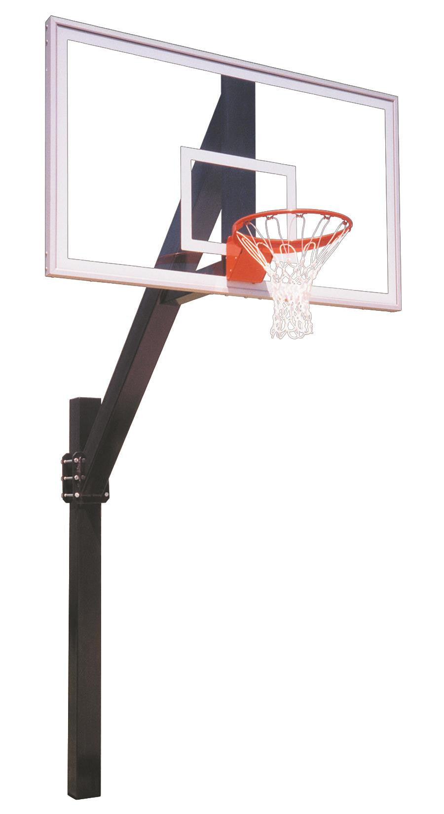 First Team Legend Arena In Ground Fixed Height Outdoor Basketball Hoop 72 inch Tempered Glass