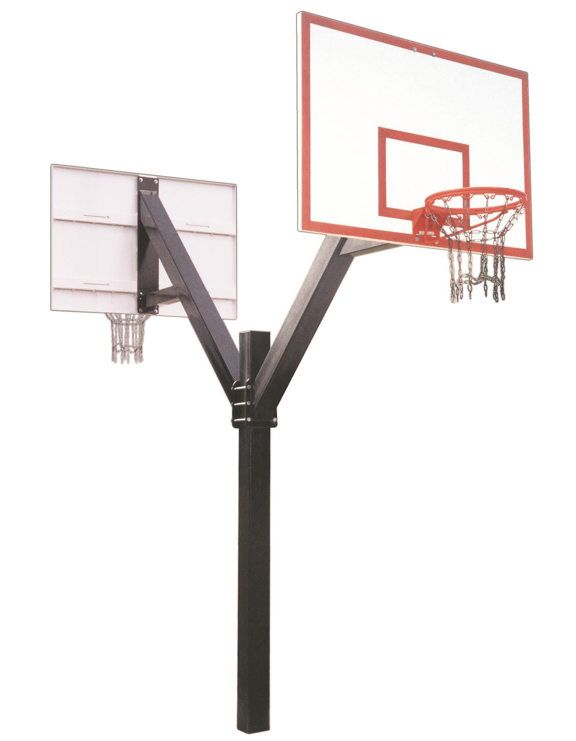 First Team Legend Dynasty DUAL In Ground Fixed Height Outdoor Basketball Hoop 72 inch Fiberglass