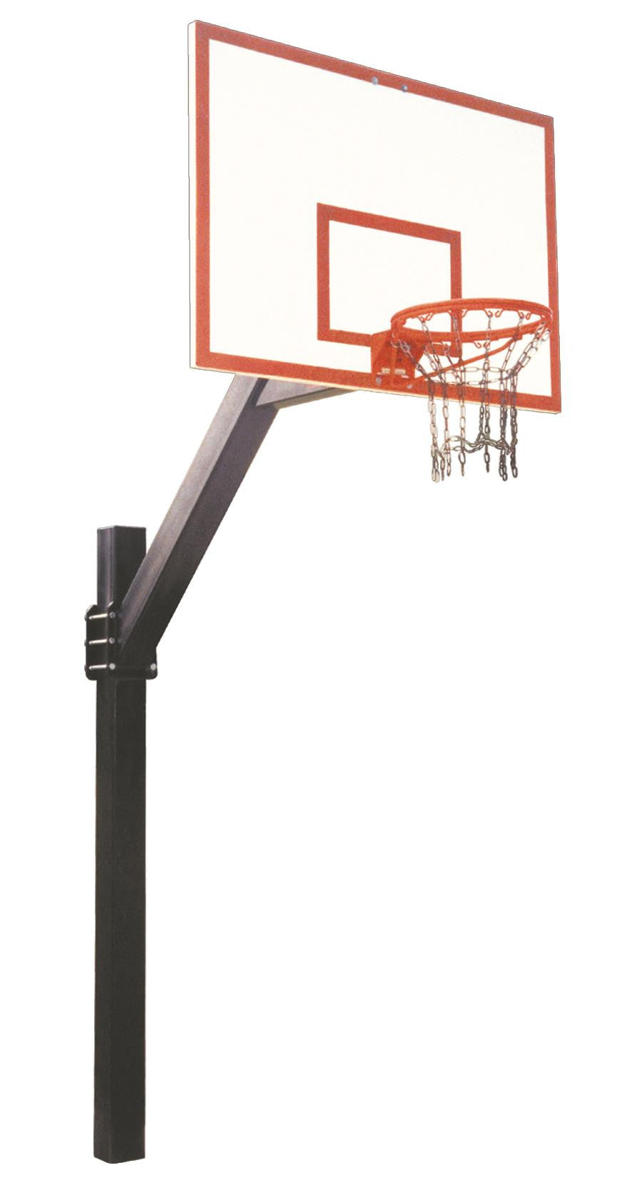 First Team Legend Dynasty In Ground Fixed Height Outdoor Basketball Hoop 72 inch Fiberglass
