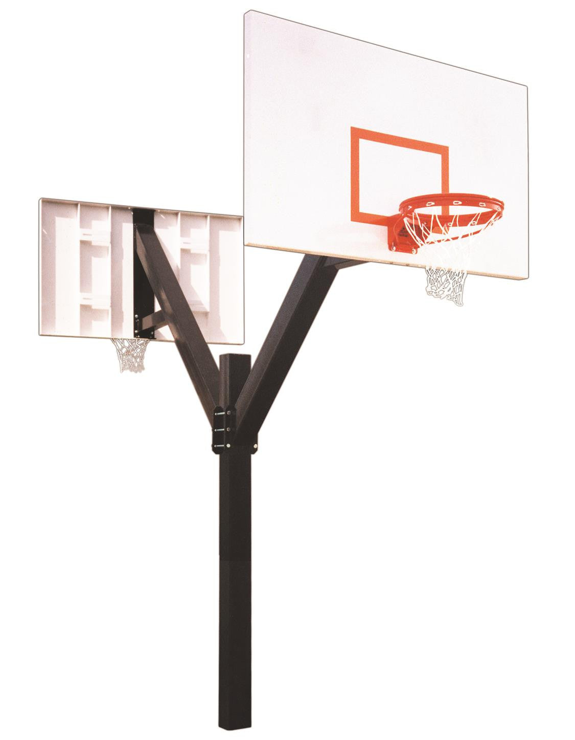 First Team Legend Excel DUAL In Ground Fixed Height Outdoor Basketball Hoop 72 inch Steel