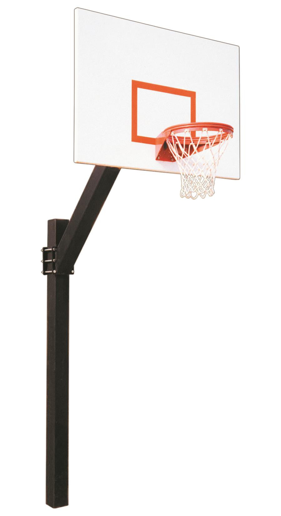 First Team Legend Impervia In Ground Fixed Height Outdoor Basketball Hoop 60 inch Aluminum
