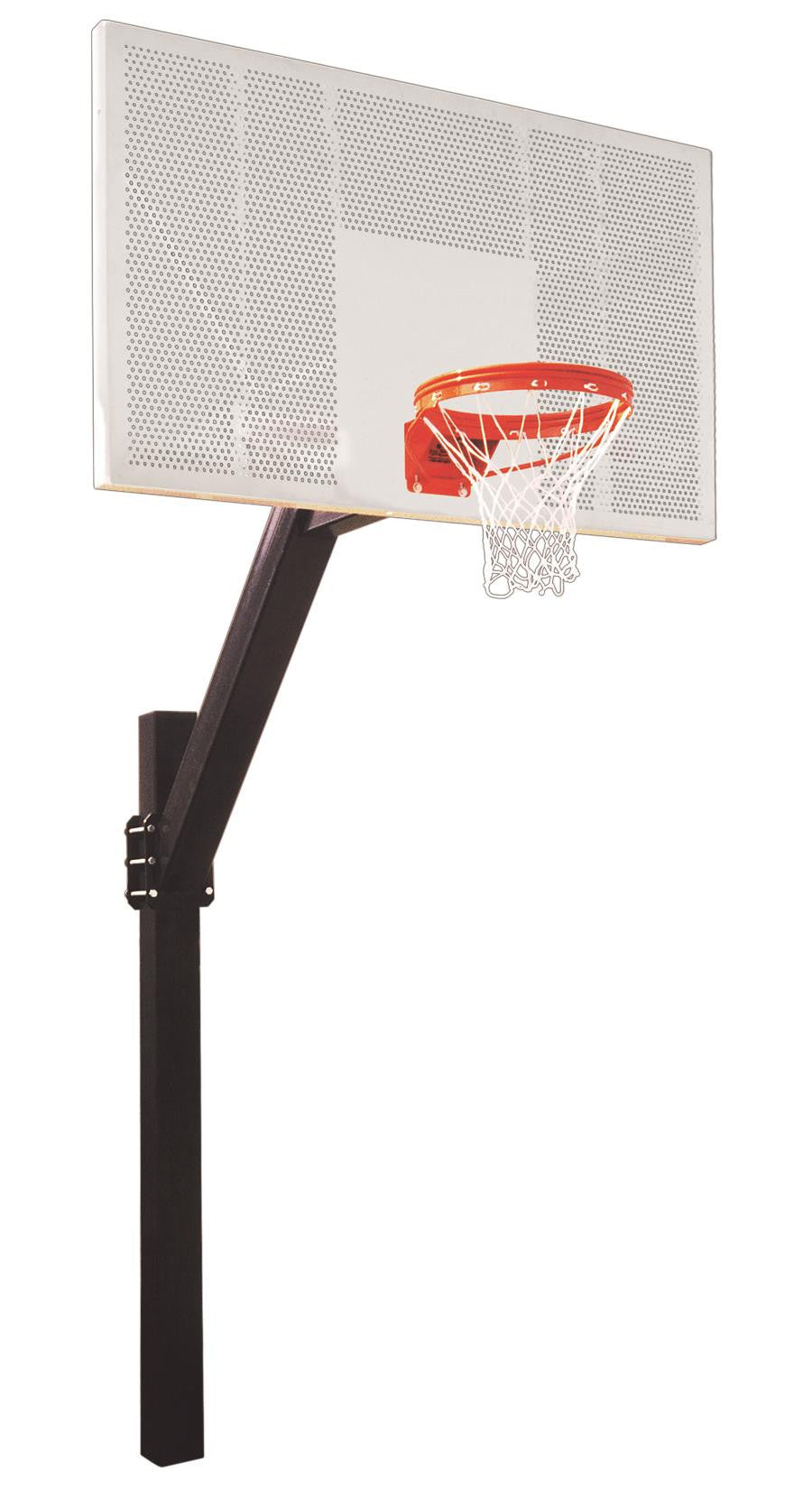 First Team Legend Intensity In Ground Fixed Height Outdoor Basketball Hoop 72 inch Perforated Aluminum