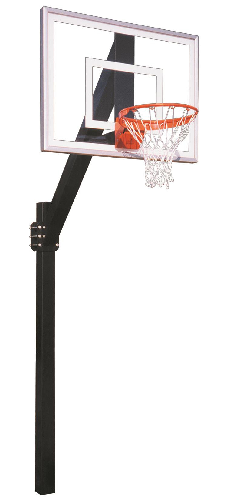 First Team Legend Jr III In Ground Fixed Height Outdoor Basketball Hoop 54 inch Acrylic