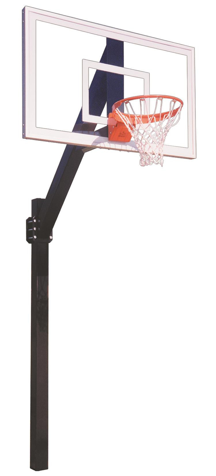 First Team Legend Jr Pro In Ground Fixed Height Outdoor Basketball Hoop 60 inch Tempered-Glass