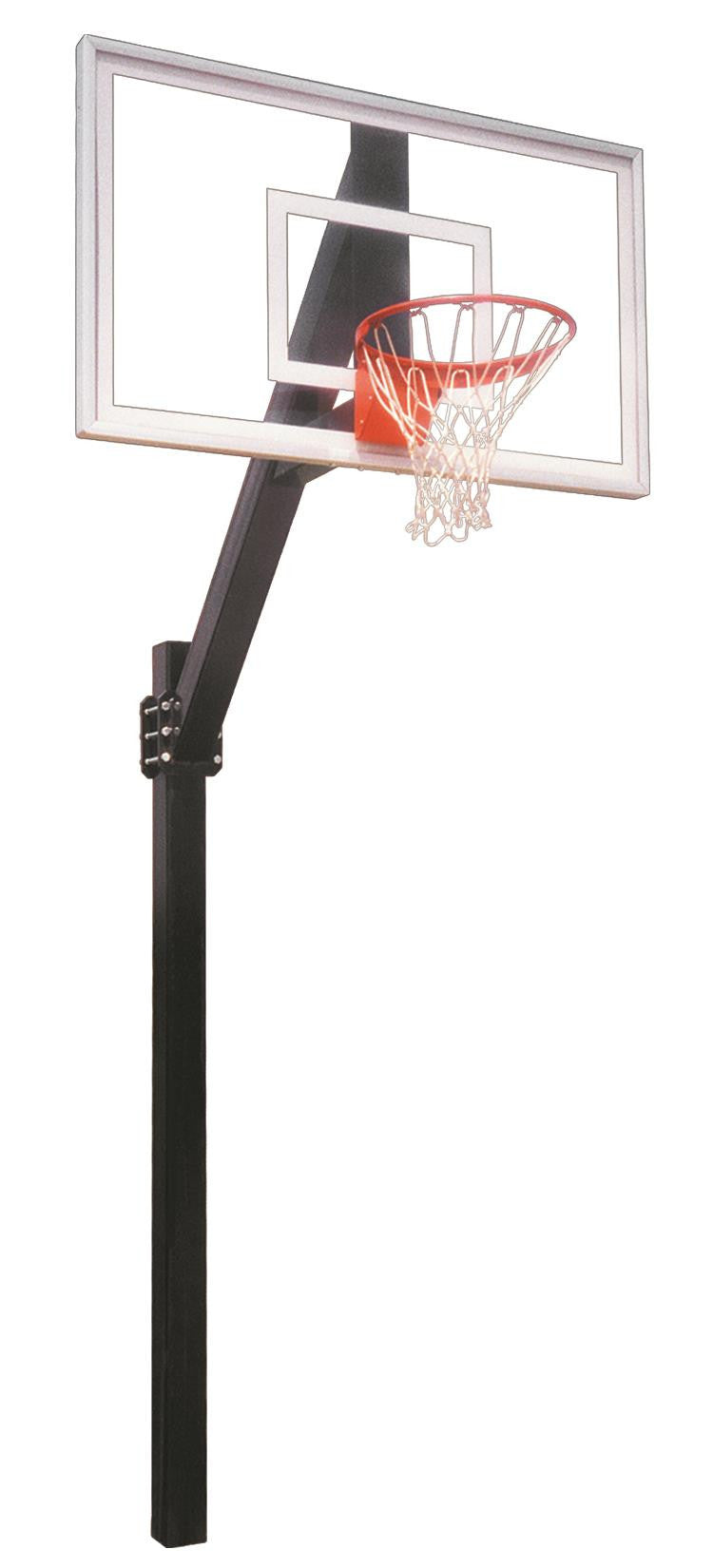 First Team Legend Jr Select In Ground Fixed Height Outdoor Basketball Hoop 60 inch Acrylic