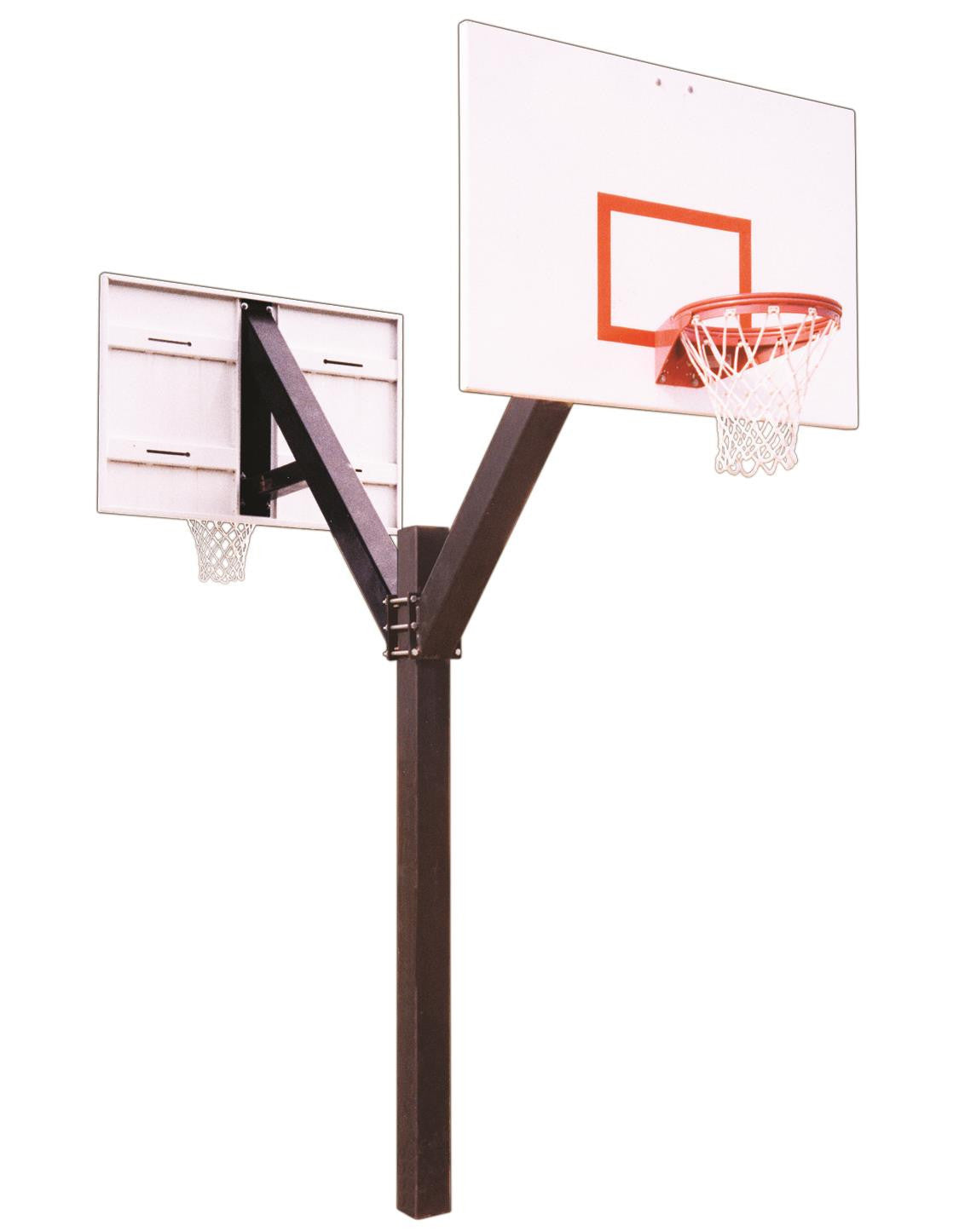 First Team Legend Playground DUAL In Ground Fixed Height Outdoor Basketball Hoop 60 inch Steel