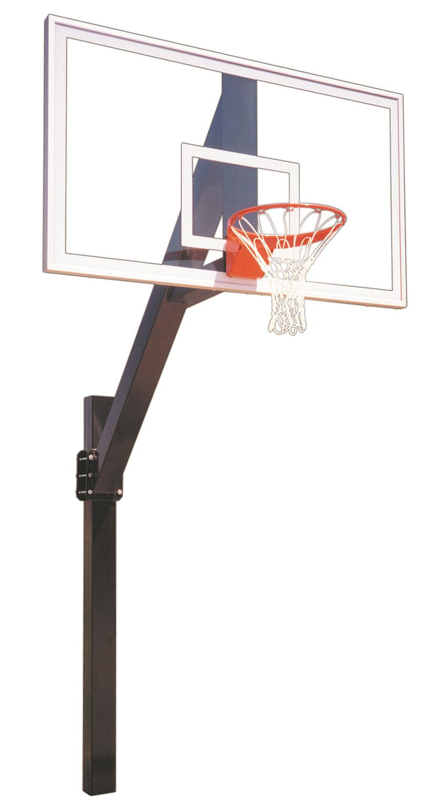 First Team Legend Supreme In Ground Fixed Height Outdoor Basketball Hoop 72 inch Acrylic